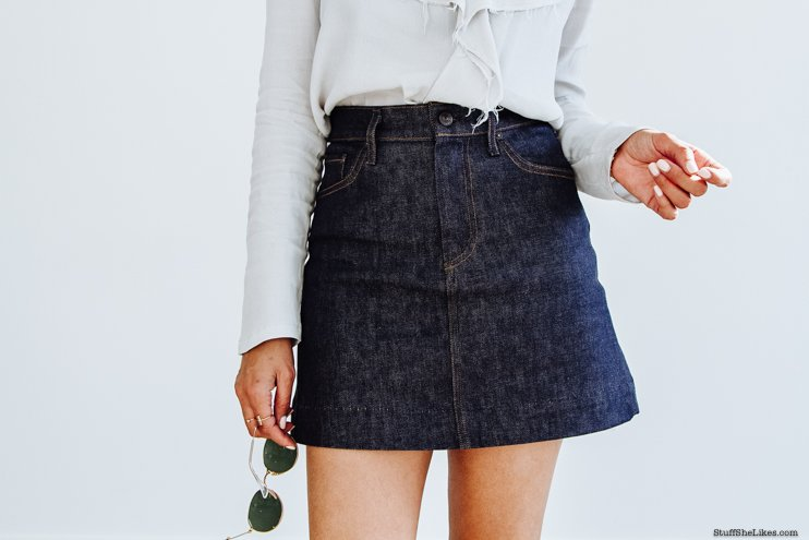 denim, jean skirt, rayban, citizens of humanity, topshop, demin skirts nordstrom, fashion blogger, top fashion blogger