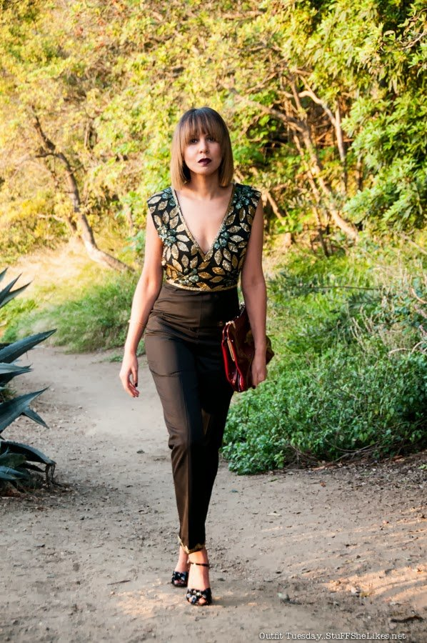 red carpet, Jumpsuit, sequins, Black blogger, taye Hansberry, Black Fashion Blog, Mixed girl, Light skin, Blonde hair, short hair, Bob, bangs, Black girl blonde hair,