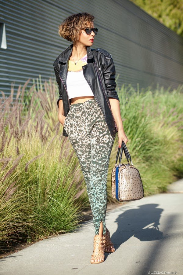curly hair, just fab, Leather jacket, oak ny, leopard, happiness brand, fashion blogger, top fashion blogger, top 10 fashion bloggers, best fashion blog, Black fashion blogger, african american fashion blog, Taye hansberry, gypsy 05, stuff she likes, blonde hair