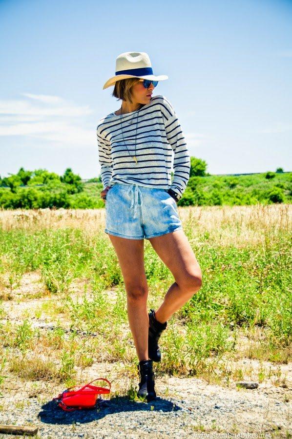 michael stars, FireFly music festival, Denim shorts, panama hat,  mirrored sunglasses, just fab, top blogger, blogger, best fashion blog, top fashion blog, top 10 fashion bloggers in the U.S.,