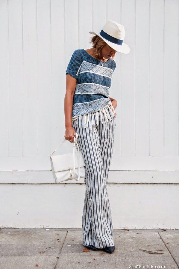Stripes, Michael Stars, Zara, best Fashion Blogger, Top ten Fashion bloggers, Blonde hair, Short hair cut, fashion blogger, Los Angeles fashion blogger,