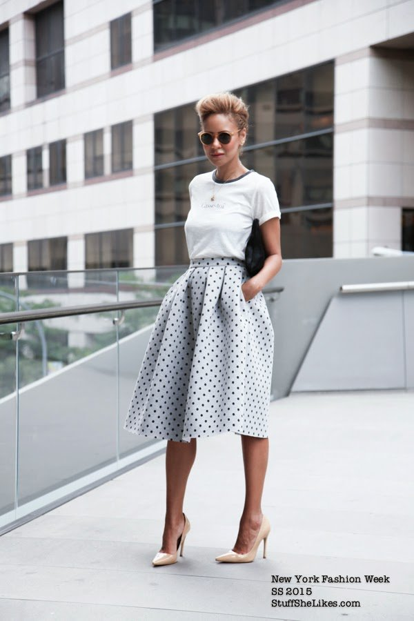 TopShop, Blonde Blogger, black blogger, Stuff She Likes, Top Blogger, Los Angeles blogger, New York Fashion Week, Lincoln Center, Nude pumps, Clare vivier