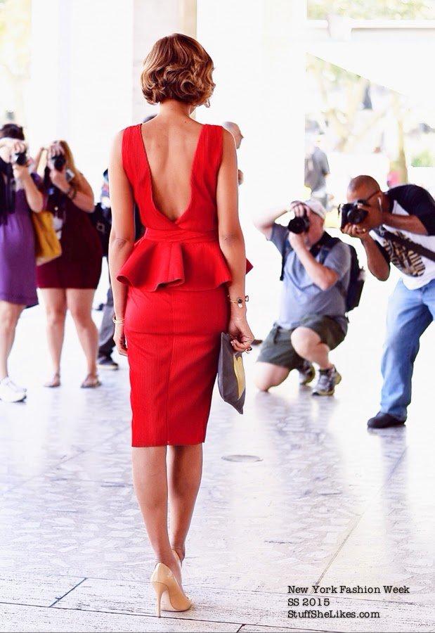 red dress, blogger, la blogger, peplum, pencil skirt, not rational bag, topshop nude heels, stella and dot,