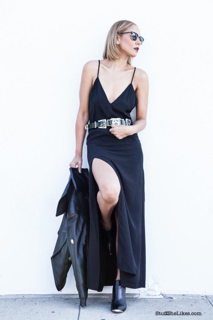 style stalker, top LA blogger, black dress