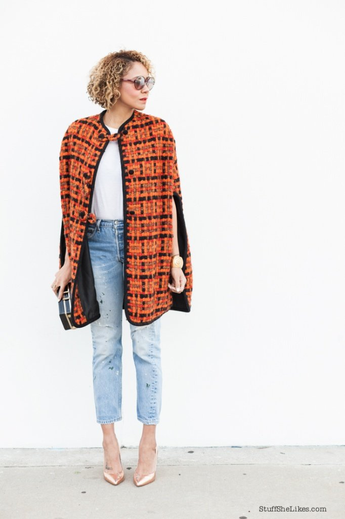 How to wear a cape, Vintage Levis, ted baker heels, top blogger, best fashion blogs, best los angeles bloggers, fashion blogger,