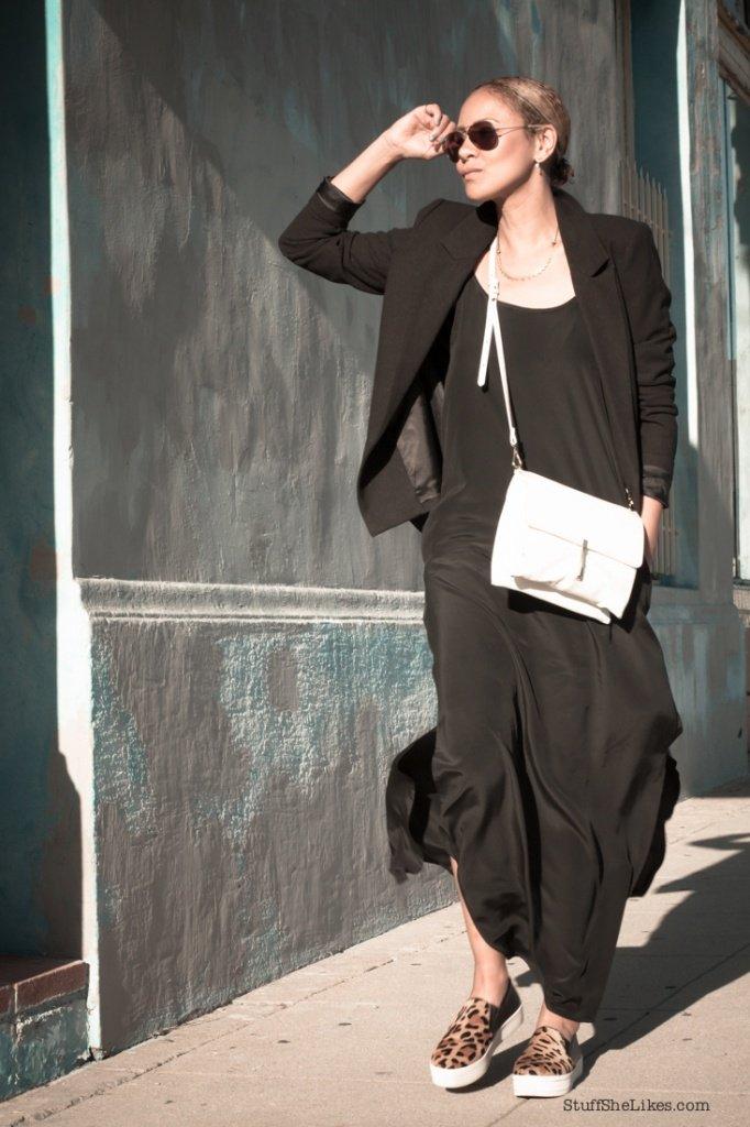 black slipdress, Steve madden shoes, Blogger, top 10 bloggers, top LA bloggers, fashion blogger, Black blazer, Nude lipstick,