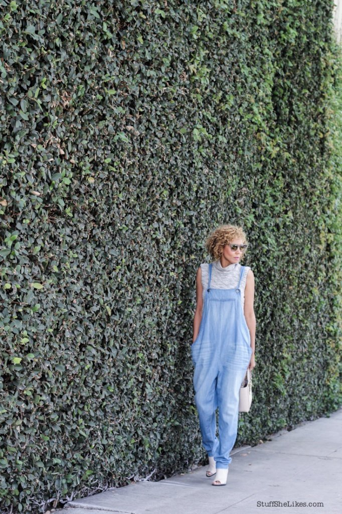 L'agence, overalls, top blogger, blogger, Henri Bendel, curly hair, Los Angeles blogger, top LA bloggers, kenneth cole mules