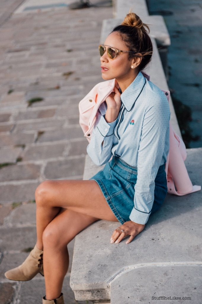 Paris, Fashion, Paris Fashion, Travel, Paris travel, Photos of paris, fashion blogger, top fashion blogger, los angeles fashion blogger, top ten fashion bloggers, taye hansberry, stuff she likes, blog, denim, sister jane, pink coat