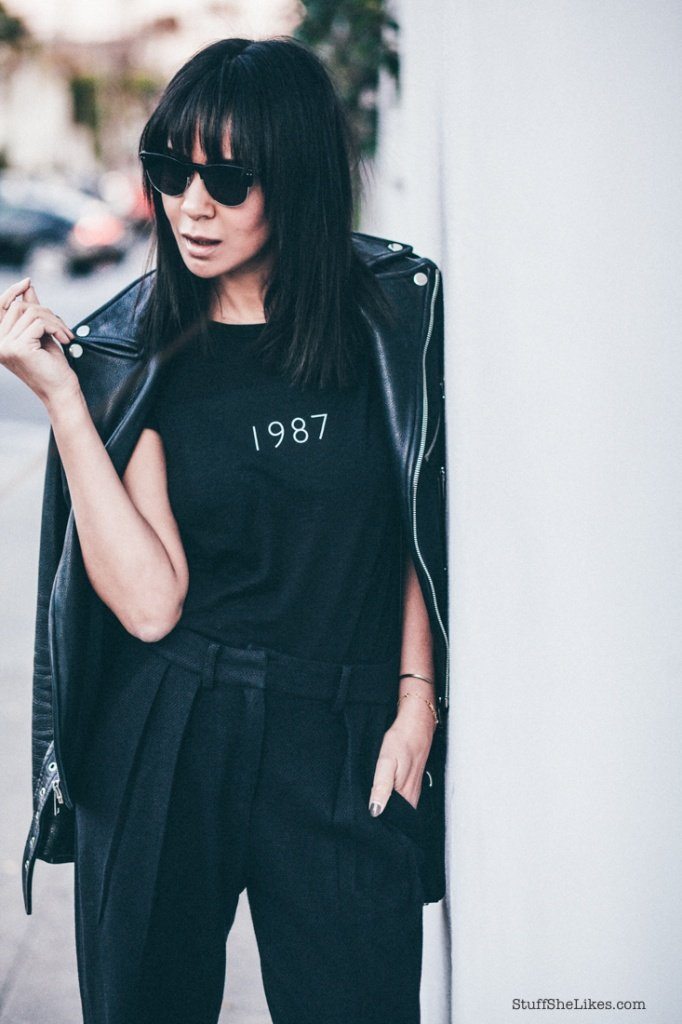 blogger, fashion blogger, brunette, awesome haircuts, bangs, bloggers with bangs, Made eyewear, Levi Stocke, Always Judging,