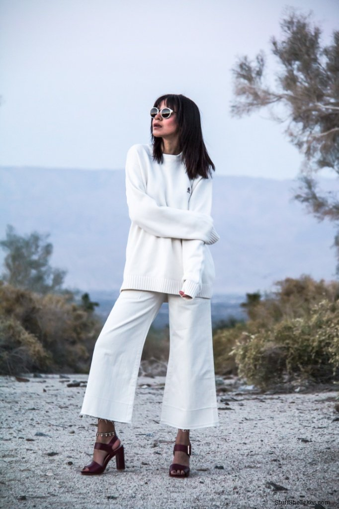 white on white,  white jeans, converse eyewear, white sunglasses, palm springs, fashion blogger, top fsahion blogger, bedt fashion blogger, top ten fashion bloggers, black fashion bloggers, fashion bloggers of color, how to wear bangs,