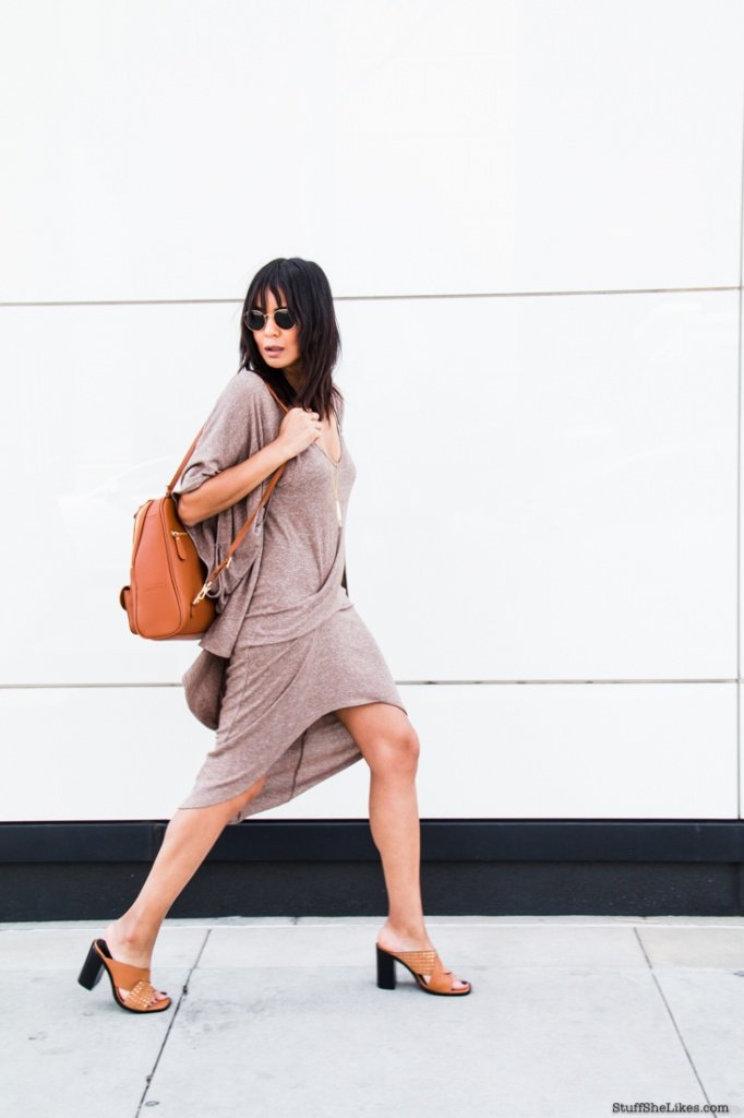 tank dress, fashion blogger, top fashion blogger, top 10 fashion bloggers, best fashion bloggers, Blogpost, fashion, Los Angeles bloggers, black bloggers, bloggers of color, wildfox, revolve clothing, backpack, fashion backpack. bangs, best haircuts
