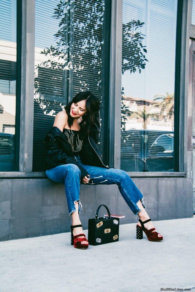 Zara, Grlfrnd demin, girlfriend demin, platform shoes, rebecca minkoff leather jacket, rebecca minkoff bag, fashion blogger, top fashion blogger, best fashion bloggers, Black fashion bloggers, women of color, Taye Hansberry,